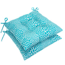 "Load image into Gallery viewer, Don't Be Catty - Aqua Tufted Seat Cushion 2 Pk (Tftd-ties) 19""x18.5""x5"" - Shop Baby Slings & wraps, Baby Bedding & Home Decor !"