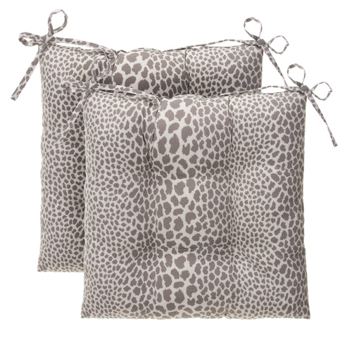 Don't Be Catty - Grey Tufted Seat Cushion 2 Pk (Tftd-ties) 20