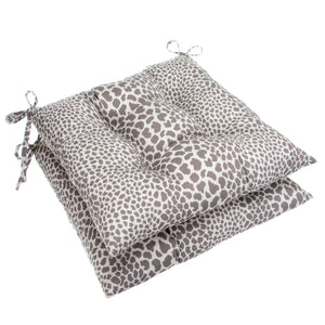 "Don't Be Catty - Grey Tufted Seat Cushion 2 Pk (Tftd-ties) 19""x18.5""x5"" - Shop Baby Slings & wraps, Baby Bedding & Home Decor !"