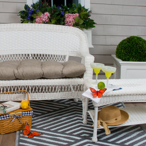 "Sahara  Wicker Loveseat Cushion 44""x19""x5"" - Shop Baby Slings & wraps, Baby Bedding & Home Decor !"