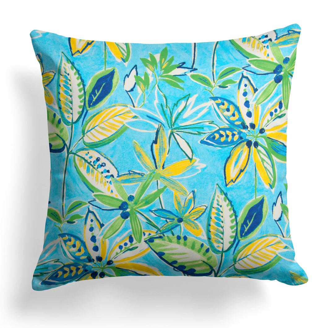 Flower Garden (Flora) Square Pillow 18.5