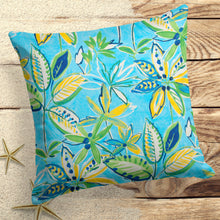 "Load image into Gallery viewer, Flower Garden (Flora) Square Pillow 25"" x 25"" - Shop Baby Slings & wraps, Baby Bedding & Home Decor !"
