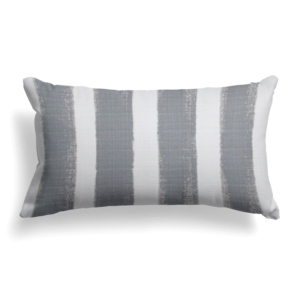 "Caravan Grey (Cabana Grey) Lumbar Pillow 22"" x 12"" - Shop Baby Slings & wraps, Baby Bedding & Home Decor !"