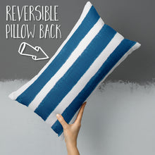 "Load image into Gallery viewer, Caravan Navy (Cabana Navy) Lumbar Pillow 22"" x 12"" - Shop Baby Slings & wraps, Baby Bedding & Home Decor !"
