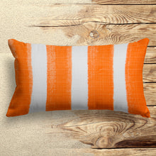 "Load image into Gallery viewer, Caravan Orange(Cabana Orange) Lumbar Pillow 22""x12"" - Shop Baby Slings & wraps, Baby Bedding & Home Decor !"