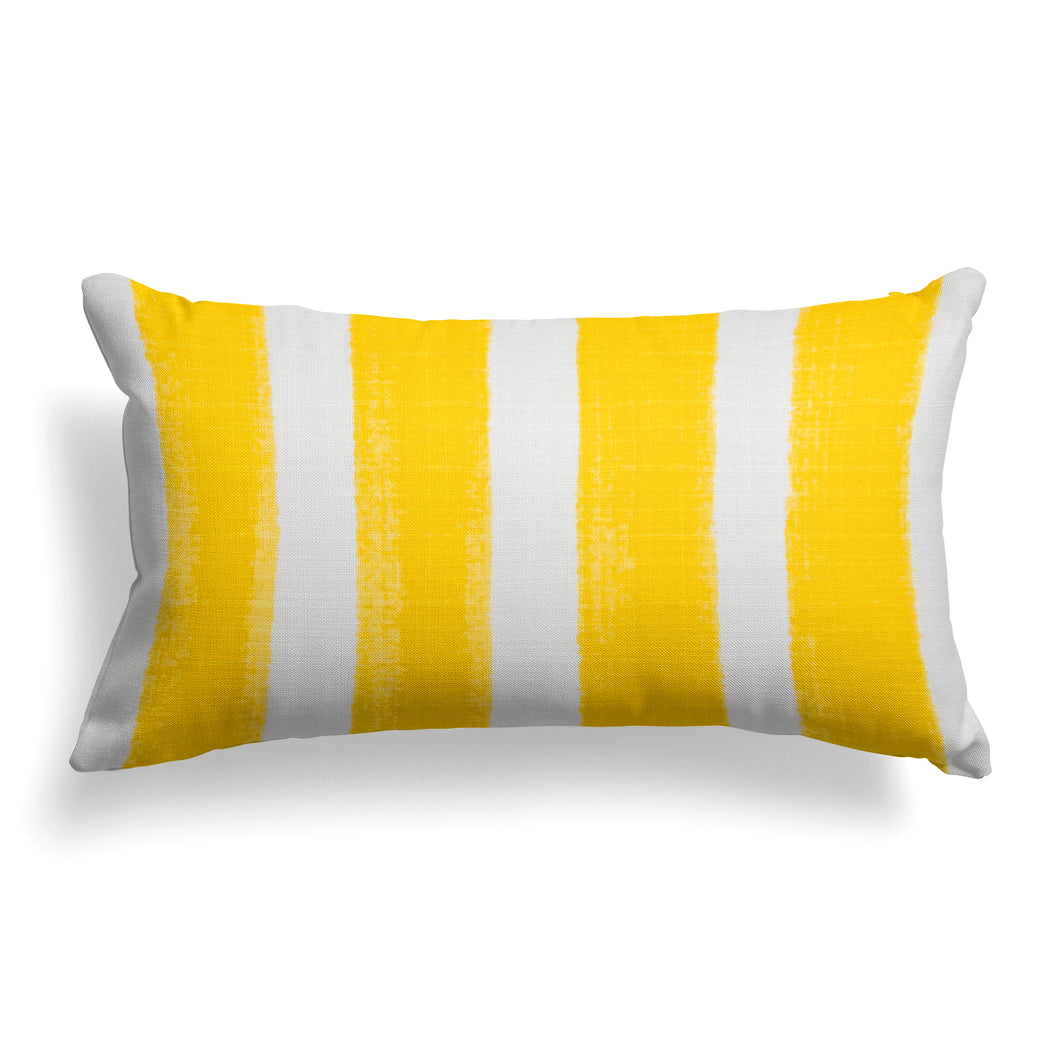Caravan Yellow (Cabana Yellow) Lumbar Pillow 22