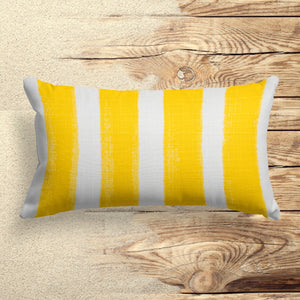"Caravan Yellow (Cabana Yellow) Lumbar Pillow 22"" x 12"" - Shop Baby Slings & wraps, Baby Bedding & Home Decor !"