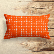 "Load image into Gallery viewer, Sea Island Orange (Neptune Orange) Lumbar Pillow 22"" x 12"" - Shop Baby Slings & wraps, Baby Bedding & Home Decor !"