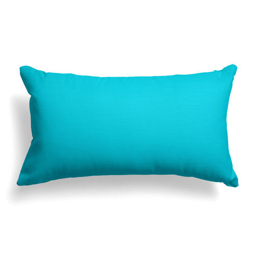 Lagoon (Aqua Solid) Lumbar Pillow 22