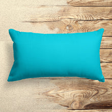 "Load image into Gallery viewer, Lagoon (Aqua Solid) Lumbar Pillow 22"" x 12"" - Shop Baby Slings & wraps, Baby Bedding & Home Decor !"