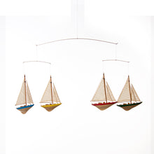 "Load image into Gallery viewer, Sailboat Ceiling Mobile (36.5x1.5x12.5"") - Shop Baby Slings & wraps, Baby Bedding & Home Decor !"
