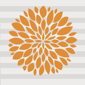 Orange Flower Decal - Shop Baby Slings & wraps, Baby Bedding & Home Decor !