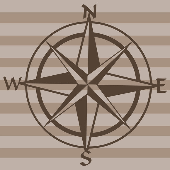 Fly-By Compass Wall Decal - Shop Baby Slings & wraps, Baby Bedding & Home Decor !