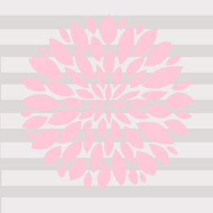Pink Flower Decal - Shop Baby Slings & wraps, Baby Bedding & Home Decor !
