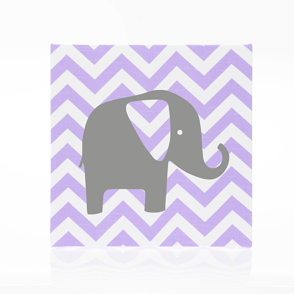 Swizzle Purple Wall Art Chevron w Elephant - Shop Baby Slings & wraps, Baby Bedding & Home Decor !