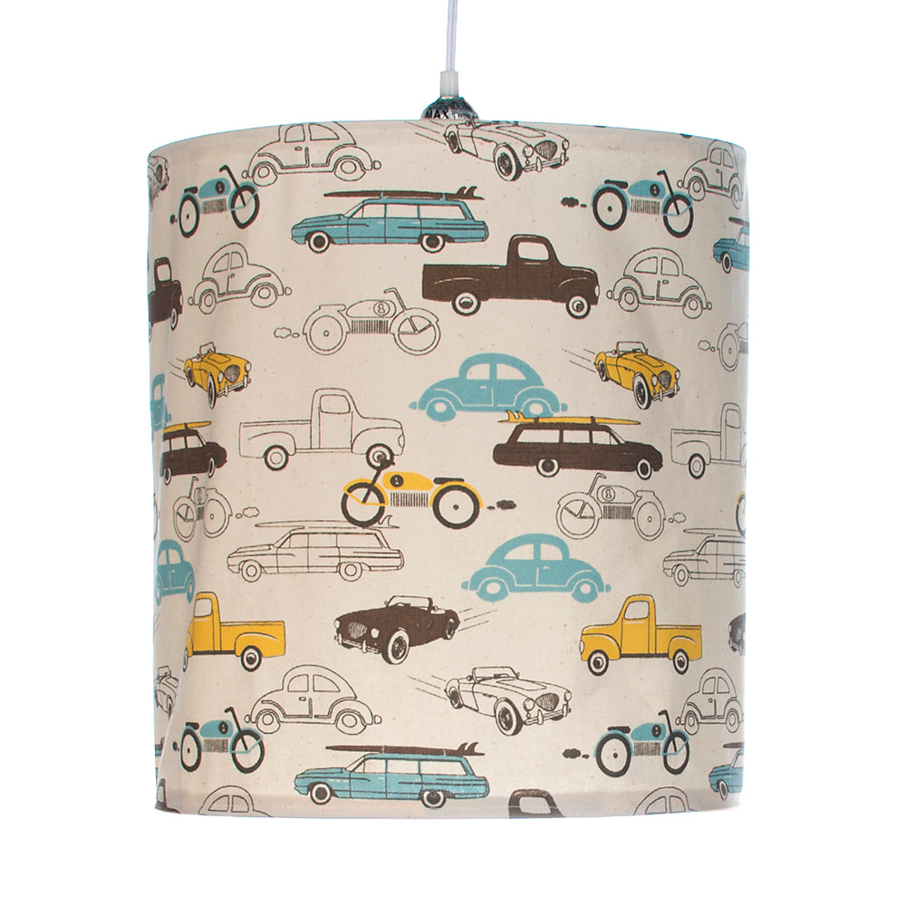 Traffic Jam Hanging Drum Shade, Cars - Shop Baby Slings & wraps, Baby Bedding & Home Decor !