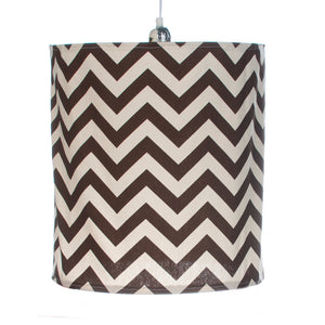 Traffic Jam Hanging Drum Shade, Brown Chevron - Shop Baby Slings & wraps, Baby Bedding & Home Decor !