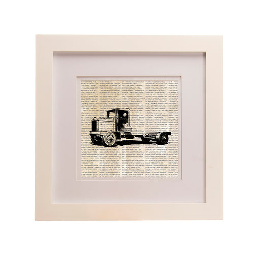 Traffic Jam Framed Wall Art Print, Flatbed Truck - Shop Baby Slings & wraps, Baby Bedding & Home Decor !