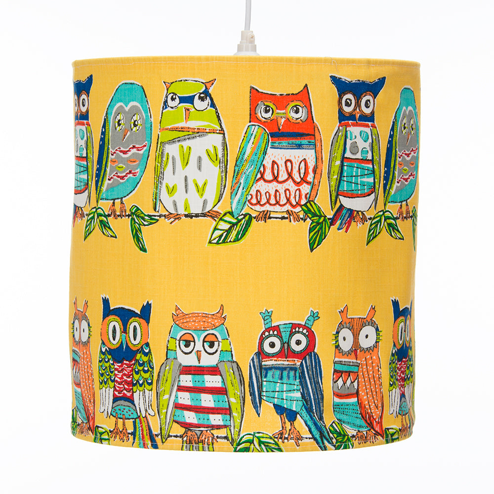 Lil Hoot Hanging Drum Shade - Owl - Shop Baby Slings & wraps, Baby Bedding & Home Decor !