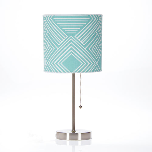 Soho Mod Table Lamp with Aqua Print Shade - Shop Baby Slings & wraps, Baby Bedding & Home Decor !