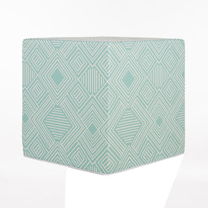 Soho Pouf, Aqua Print - Shop Baby Slings & wraps, Baby Bedding & Home Decor !