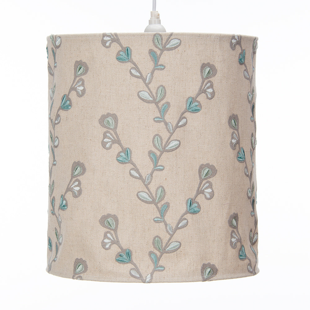 Twiggy Hanging Drum Shade - Velvet Twig Embroidery - Shop Baby Slings & wraps, Baby Bedding & Home Decor !