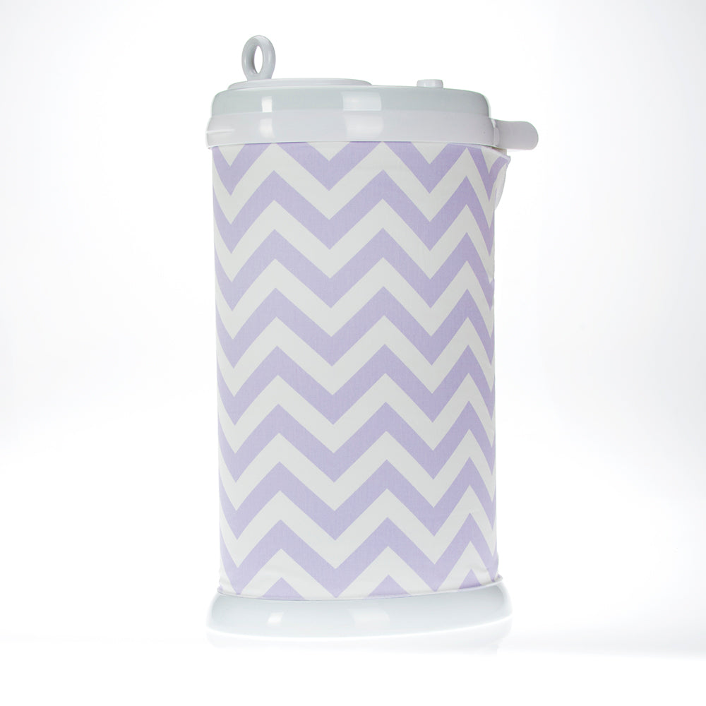 Swizzle Purple Chevron Ubbi® Diaper Pail Cover-Purple - Shop Baby Slings & wraps, Baby Bedding & Home Decor !