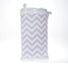 Load image into Gallery viewer, Swizzle Purple Chevron Ubbi® Diaper Pail Cover-Purple - Shop Baby Slings & wraps, Baby Bedding & Home Decor !
