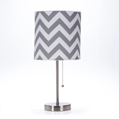 Swizzle Purple Mod lamp & Grey Chevron Shade - Shop Baby Slings & wraps, Baby Bedding & Home Decor !
