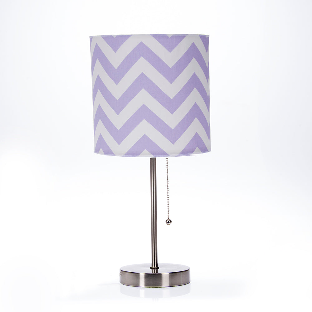 Swizzle Purple Mod lamp & Purple Chevron Shade - Shop Baby Slings & wraps, Baby Bedding & Home Decor !