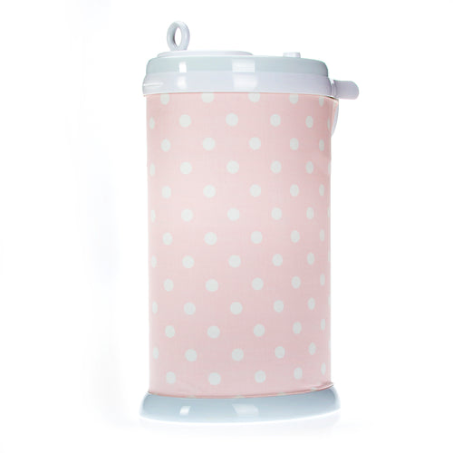 Charlotte Ubbi Diaper Pail Cover - Pink Dot - Shop Baby Slings & wraps, Baby Bedding & Home Decor !