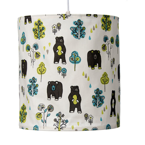 North Country Hanging Drum Shade-Bear Print - Shop Baby Slings & wraps, Baby Bedding & Home Decor !