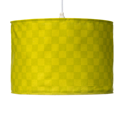 North Country Hanging Drum Shade-Green Check - Shop Baby Slings & wraps, Baby Bedding & Home Decor !
