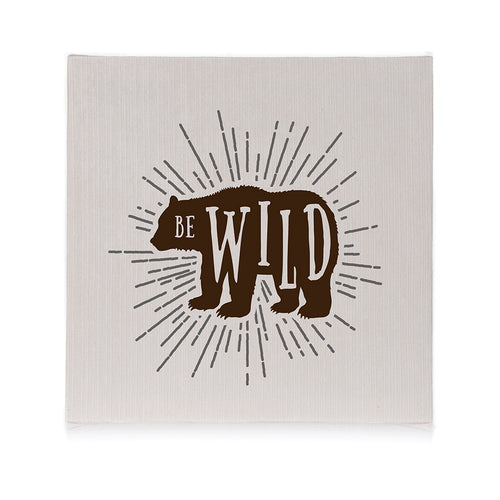 North Country Wall Art- Be Wild - Shop Baby Slings & wraps, Baby Bedding & Home Decor !