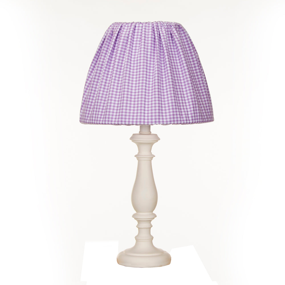 Sweet Pea White Lamp W Purple Gingham Shade - Shop Baby Slings & wraps, Baby Bedding & Home Decor !