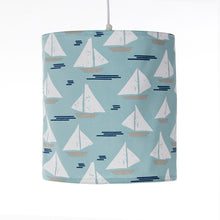 Load image into Gallery viewer, Little Sail Boat Hanging Drum Shade- Sailboat - Shop Baby Slings & wraps, Baby Bedding & Home Decor !