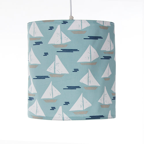 Little Sail Boat Hanging Drum Shade- Sailboat - Shop Baby Slings & wraps, Baby Bedding & Home Decor !