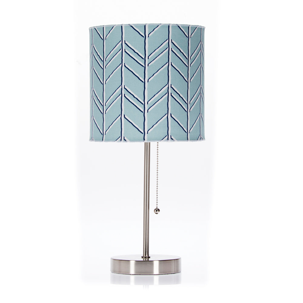 Happy Camper Mod Lamp &  Shade (Blue Chevron) (60W) - Shop Baby Slings & wraps, Baby Bedding & Home Decor !