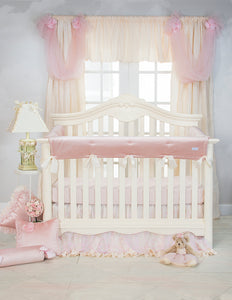Anastasia Cream Pillow Pink Velvet with Ruffle - Shop Baby Slings & wraps, Baby Bedding & Home Decor !
