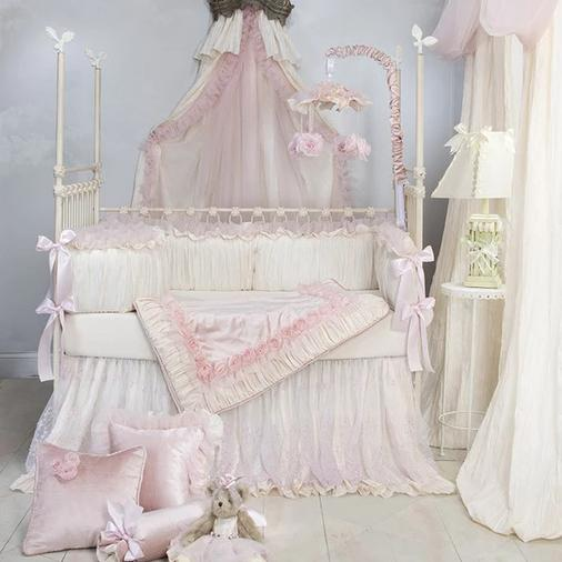 Anastasia Cream Crib Set 3 piece - Shop Baby Slings & wraps, Baby Bedding & Home Decor !