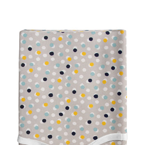 Hooptie Changing Pad Cover Light Grey Dot