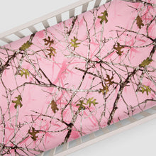 Load image into Gallery viewer, Camo Baby Pink Fitted Sheet (Camo) - Shop Baby Slings & wraps, Baby Bedding & Home Decor !