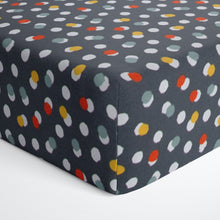 Load image into Gallery viewer, Hooptie Fitted Sheet Dark Grey Dot