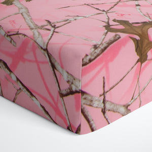 Camo Baby Pink Fitted Sheet (Camo) - Shop Baby Slings & wraps, Baby Bedding & Home Decor !