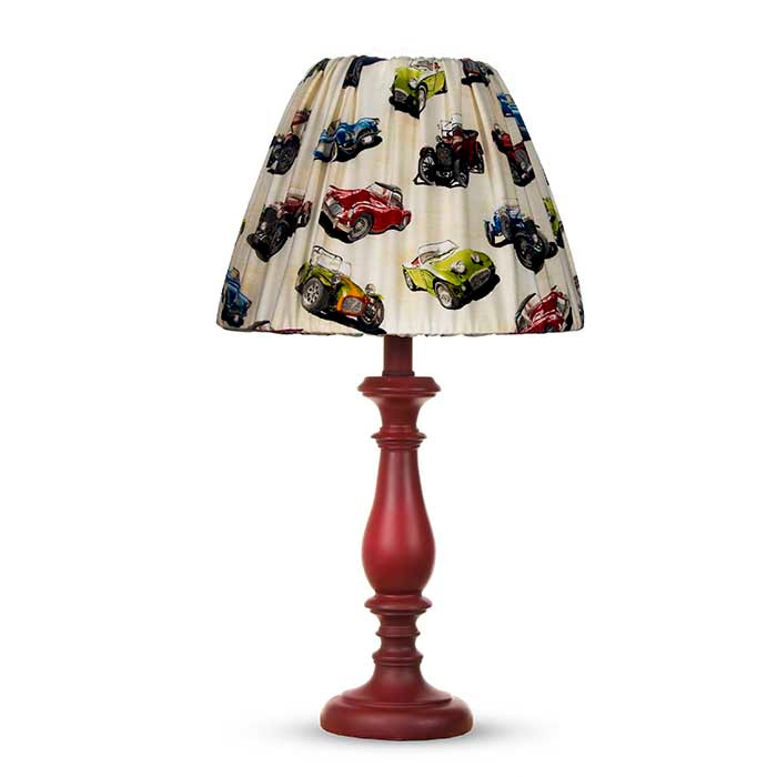 Fast Track Red Lamp Base with Car Shade (12x12x24
