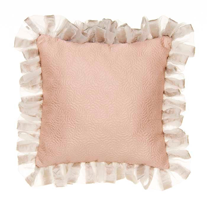 Hannah Pillow  - Pink Matelasse with Grey Back (Reversible) - Shop Baby Slings & wraps, Baby Bedding & Home Decor !