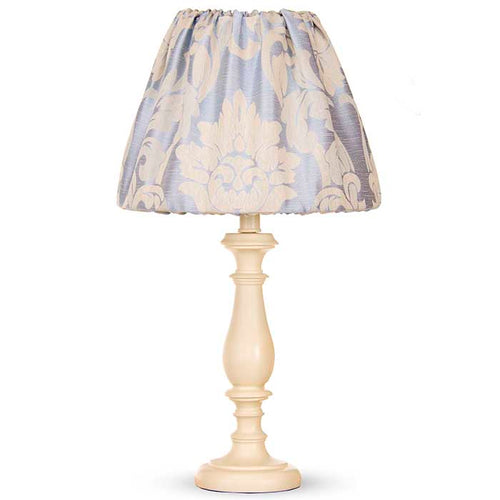 Little Prince Lamp - Cream Lamp with Damask Shade (12x12x24
