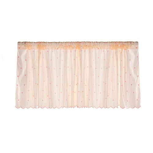 Hannah Window Valance (Pink Dot Embroidery) (Approximately 70x18