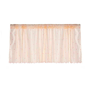 "Hannah Window Valance (Pink Dot Embroidery) (Approximately 70x18"") - Shop Baby Slings & wraps, Baby Bedding & Home Decor !"