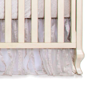 HANNAH 3PC SET (INCLUDES QUILT, EMBOSSED VELVET FITTED SHEET, CRIB SKIRT) - Shop Baby Slings & wraps, Baby Bedding & Home Decor !